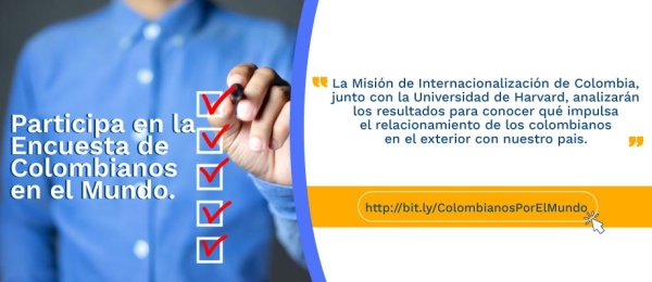 Participa en la Encuesta de Colombianos en el Mundo