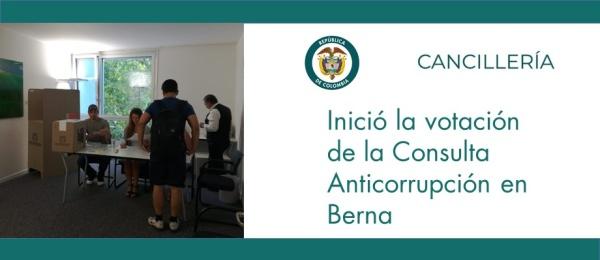 Inició la votación de la Consulta Anticorrupción en Berna